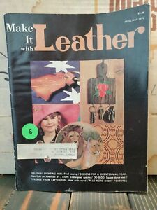 Make it with Leather magazine April-May 1976 With Pull Out