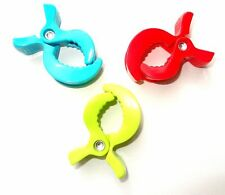 3x Alligators Pegs Clips Clamp for Baby's Pram Stroller Toys Baby Blanket Clip H