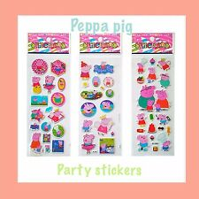 Peppa Pig Reusable Stickers. Pack Of 10. Craft/party/loot/gift Bags.