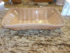 Longaberger Rare Earth And Sky Cinch Basket With Protector