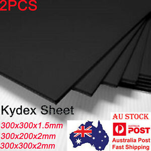 2pcs Black Kydex Sheet Plastic plate For Knife Sheath&Gun Holster 1.5/2mm thick