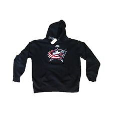 NWT NEW Columbus Blue Jackets Adidas Men's Logo Pullover Hoodie Sweatshirt Large