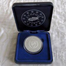 Chypre 2004 SILVER PROOF PIEDFORT 5 euro essai Motif-en boîte