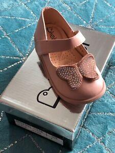 Kelsi Pink Butterfly Infants Shoes