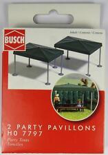 BNIB OO / HO BUSCH 7797 GARDEN GAZEBO - FOR PARTY - PUB - MARKET - FETE ETC
