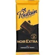 lot 3 tablettes de Chocolat noir 100 g poulain