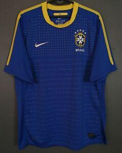 MEN'S NIKE BRAZIL BRASIL NATIONAL 2010/2011 FOOTBALL SOCCER SHIRT JERSEY SIZE L