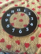 baby glo dial vintage electric neon clock large number face glass 7 3/4 OD new