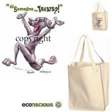 Weimaraner Dog Someone Say Treats Cartoon Art Organic Grocery Shopping Tote Bag