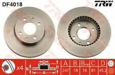 Almera N15  95-00 Front Brake Disc's 247mm Vented (non abs)