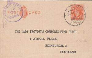 IRAQ 1944 STATIONERY CARD FROM MOSUL TO SCOTLAND FPO 102 PMK + CENSOR 5344
