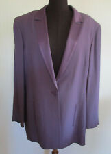 Anthea Crawford Womens VTG Plus Sz18 Suit Jacket Lilac Lined Formal/Evening VGC