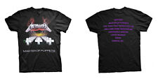 METALLICA Master Of Puppets Tracks T-SHIRT (2-sided, All Sizes) NEW OFFICIAL