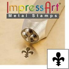 Metal stamp, punch, french lily - 6mm
