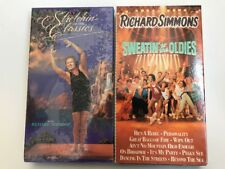 Lot of 2 RICHARD SIMMONS VHS Tapes- Sweatin to the Oldies, Stretching To The Cla