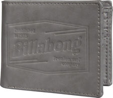 BILLABONG MENS WALLET.JUNCTION FAUX LEATHER GREY CARD COIN NOTE PURSE 8S M06 18