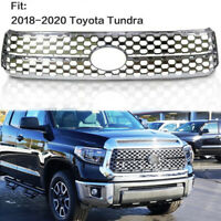 For 2018-2020 Toyota Tundra SR5 Grille Grill Honeycomb Cover Overlay Trim Chrome