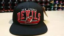 American Needle NHL New Jersey Devils Team Script Arch Old School Snapback Cap