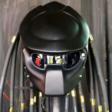 CASCO ELMETTO MATT BLACK PREDATOR MOTORCYCLE HELMET HERO COSPLAY! CUSTOM LAMP