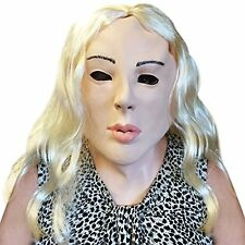 Creepy Lady Costume Face Mask with Blonde Hair - Off the Wall Toys