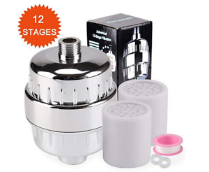 12- Stage Shower Water Filter With Replacement Cartridge Water Softener Purifier