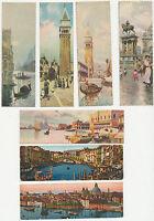 ITALIEN VENEDIG / VENEZIA ca. 1900/10, 7 verschiedene ungebrauchte MINI-AK's
