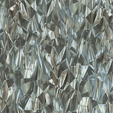 3d Crystal Creased Wallpaper Geometric Paste The Wall Ice Silver Blue Vinyl P S