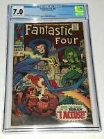 Fantastic Four #65 CGC 7.0 FN/VF Marvel 1967, 1st Ronan the Accuser