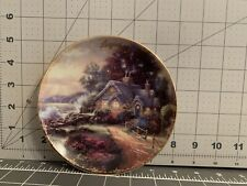 """""""August - A New Day Dawning� Plate 5� Thomas Kinkade Simpler Times Collection"""