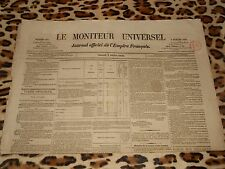 LE MONITEUR UNIVERSEL, journal officiel de l'empire français, n° 184, 03/07/1858