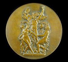 Médaille la Danse 12 cm J Vernon d'ap Jean-Baptiste Carpeaux Opéra Garnier medal