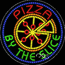 """NEW """"PIZZA BY THE SLICE"""" 26x26x1 SOLID/ANIMATED LED SIGN w/CUSTOM OPTIONS 21163"""