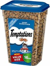 NEW TEMPTATIONS SAVORY SALMON  FLAVOR 16 OZ VALUE SIZE PACK TREATS FOR CATS