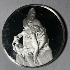Pieta of Florence, The Genius of Michelangelo 1.26oz Sterling Silver Medal