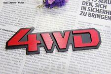E362 4WD Emblem Badge auto aufkleber 3D Schriftzug Plakette car Sticker  Rot