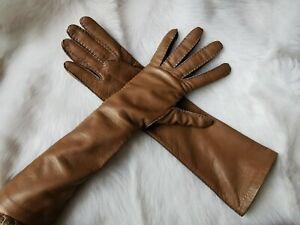 🌟New#   'S MAX MARA    Brown  Lamb LEATHER Gloves   size 8(L)