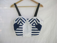 Size 10 CAMILLA AND MARK cropped striped cotton designer bustier NWT