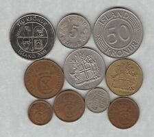 TEN COINS FROM ICELAND 1926 TO 2008 IN VERY FINE OR BETTER CONDITION