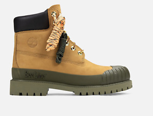 TIMBERLAND BEE LINE 6-INCH RUBBER TOE BOOTS TAN OLIVE TBOA2M4J231 SIZE 8-13