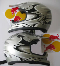 TRAVIS PASTRANA Hand Signed 2 x Half Helmet s + Perfect for Framing