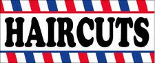2x4 Ft Haircuts Vinyl Banner Barber Salon Sign Wb Stk
