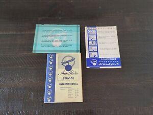 1960 1961 Porsche 356 B Frankfurt Stereo Radio Operation Owners Manual Original