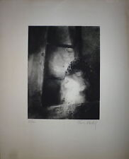 Francis Mockel Gravure Signée Art Abstrait Toulouse le noir est une couleur