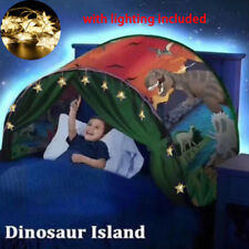 Dream Tents Dinosaur Island Pop Up Bed Tent Foldable Indoor Kid Baby Play Tents