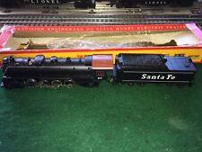 Tyco Mantua Mikado 2-8-2 Santa Fe Steam Loco W/Tender Red Box Era Tested Runs !