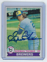 1979 BREWERS Gorman Thomas signed card Topps #376 AUTO Autographed Milwaukee