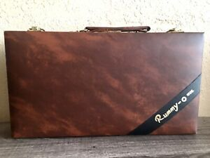 VINTAGE 1977 ~RUMMY-O~ TILE RUMMY GAME IN VINYL CARRY CASE ~SEE PICS