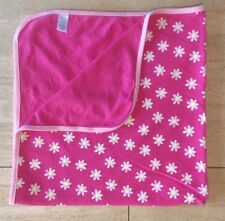 Children's Place Baby Girls Blanket TCP Pink White Yellow Flowers Daisies Cotton