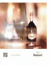 PUBLICITE ADVERTISING 027  2012   Champagne Brut de Rose Ruinart