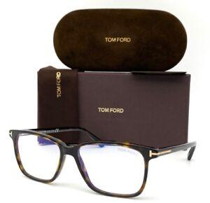 Tom Ford FT5478-B 052 Dark Havana / Blue Block  55mm Eyeglasses TF5478-B